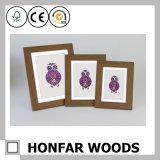 Frame de retrato de madeira rústico personalizado para a decoração