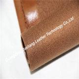 Padrão material de couro de Europa da passagem do sofá