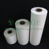 Cor branca, 500mm*25mic*1800m, 100%LLDPE, película plástica de esticão elevada para a grama da embalagem