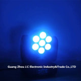7PCS * 12W RGBW 4in1 LED 단계 디스코를 위한 이동하는 맨 위 광속 빛