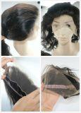 Una fascia frontale dei 360 merletti con l'onda dei gruppi nella trama dei capelli umani