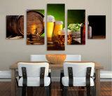 HD напечатало холстину Mc-099 изображения плаката печати декора комнаты печати холстины картины дома солода хмеля бутылки бочонка пива