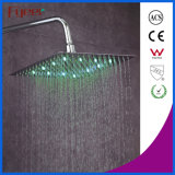 Fyeer Ultraslim 8 Inch Chrome Plated 304 Stainless Steel Shower Head Shower LED