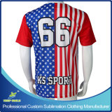 Sublimation sur mesure Full Buttons Down Baseball Jerseys