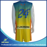 Kundenspezifisches Sublimation Lacrosse Clothing mit Reversible Top und Short