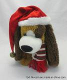 De Hond van de Kerstman van Doll van het Stuk speelgoed van de Pluche van Kerstmis van de stem