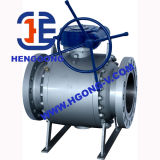 API/DIN forjó la vávula de bola del borde del acero A105 3PC