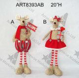 """8.5 """" Hのかわいい男の子及び女の子マウスクリスマスの装飾のおもちゃ"""