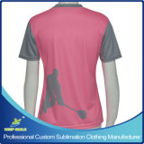 T-shirt de douille de short du Lacrosse de Digitals de sublimation de la fille faite sur commande d'impression