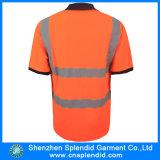 Aangepaste Mens Fluorescentie 3m Reflecterende Safety Polo