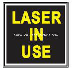 Laser in Use AVB Method Sinal de porta iluminado