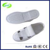 Белые ботинки ESD отверстий Cleanroom 4 сетки PU холстины