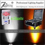 Le cas sans fil du paquet 1 des nécessaires 12 d'éclairage empaquette 4X18W