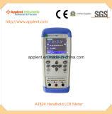 Contador portable del voltaje residual con frecuencia de la prueba de 100Hz a 1kHz (AT824)