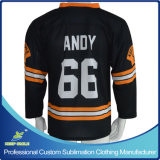 Sublimation su ordinazione Ice Hockey Jersey per Hockey Sporting