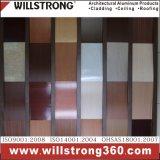Panneau composé en aluminium Frain en bois pour la façade