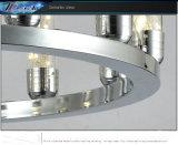 シンプルな設計のアルミニウム水晶ペンダント灯