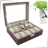 Classtic marcado decorativo plutônio luxuoso caixa de relógio de couro