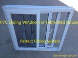 Белый цвет UPVC сползая Windows (изготовленная дом), американское окно типа UPVC сползая с сетями москита