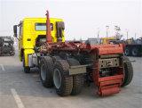 10 속도 변속기를 가진 HOWO 6X4 팔 롤 쓰레기 트럭