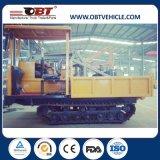 Carro de descargador diesel del sitio de 3 toneladas mini con la pista de goma