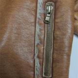 Le plus populaire, collier de fourrure, veste de Brown de femmes