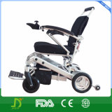 Leichtgewichtler, der 4 Rad-Laufwerk-Mg-Legierungs-Energien-elektrischen Lithium-Batterie-Rollstuhl faltet
