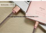 """Muster-Flechte USB-Kabel der Blitz-Minigrößen-Aluminiumbaumwolle""""W"""" für iPhone 6s plus SE"""