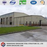Construction de structure métallique pour l'atelier avec l'entrepôt