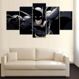 5 PCS Canvas Wall Art Cartoon Batman Picture Print Painting on Canvas for Home Decor Living Room Canvas Print Painting Mc - 158