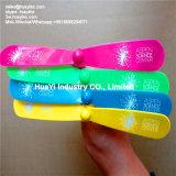 Giocattolo stampato dell'elica della mano di volo di incandescenza di marchio LED