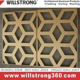 Плита декоративной панели алюминиевая для ненесущей стены