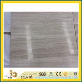 Mármol de veta de madera blanco de alto pulido para baldosas de suelo