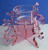 Supports acryliques de stand de bougie de Noël (C001)