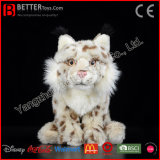 Brinquedo macio do lince euro-asiático do animal enchido do lince do luxuoso para miúdos/crianças