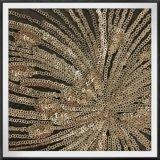 Ткань вышивки яркия блеска ткани вышивки Sequins феиэрверка