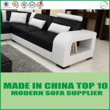 Sofa faisant le coin en cuir en bois de forme moderne d'U