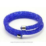 Crystal Ab Efecto Crystaldust doble brazalete (TBB-cristal doble ab)