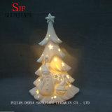 Árbol de navidad de cerámica - mini árbol encendido LED