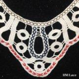 34*32cmの衣服およびファブリック装飾のかぎ針編みカラーレースHm2038のための安く着色された装飾的な網のレース