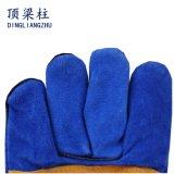 Голубые кожаный перчатки заварки с усиленной ладонью