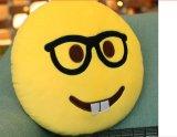 Smiley Emoticons-Gelb-rundes Kissen
