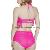 Bikini a due pezzi modellato sexy del Crochet della tazza