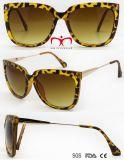 عصريّة حادّة يبيع بلاستيكيّة نساء نظّارات شمس مع معدن هيكل ([وسب705857])