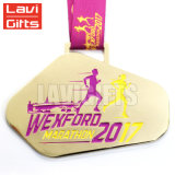 Medalla de encargo de señora Soft Enamel Half Marathon de las ventas al por mayor