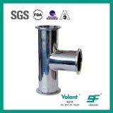 T-stuk van het Roestvrij staal van de Montage van de pijp het Sanitaire Vastgeklemde Lange