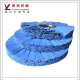 schräges polierendes Rad des weichen blauen Tuch-12inch