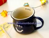 Utensílios de mesa de imitação retros do copo de café do copo do esmalte da caneca cerâmica de Sunboat