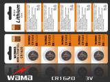 bateria de lítio Cr2016 da pilha da tecla 3V