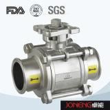 Valvola a sfera a tre vie pneumatica sanitaria dell'acciaio inossidabile con l'interruttore di limite (JN-BLV2002)